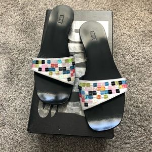 Vintage DKNY Asymmetric Thong Sandals